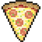 Pixelated Pizza Pattern + Single For Sticker And Shirts by Niilorino