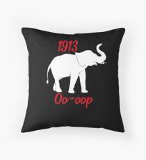 1913 Oo-oop Elephant Delta Sigma Theta Throw Pillow