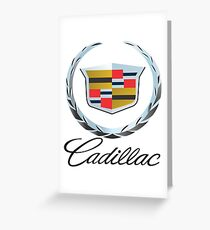 Cadillac Emblem With Script Greeting Card