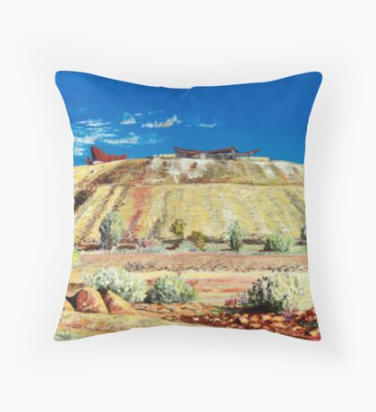 The Line of Lode - Broken Hill Throw Pillow