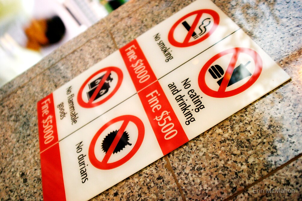 MRT Fines - Singapore by Erin McMahon