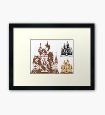 Grunge Castle Framed Print