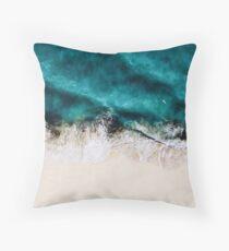 The fierce ocean Throw Pillow