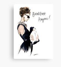 Audrey Hepburn Breakfast, Anyone? Metal Print