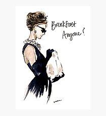 Audrey Hepburn Breakfast, Anyone? Photographic Print