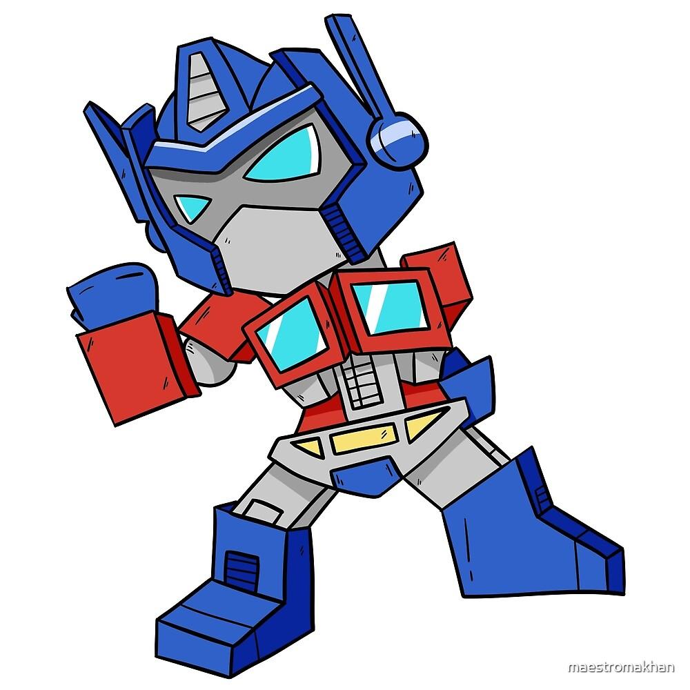 how to draw chibi optimus prime