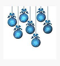 Blue Ornaments #2 Photographic Print