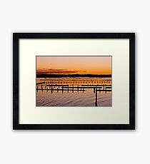 Sunset Gold And Pink Framed Print