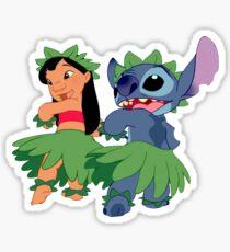 Pegatina Lilo y Stitch Hula Pegatina