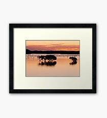 Sunset Silhouette Reflections Framed Print