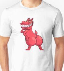 Red Guy Cow & Chicken - Funny Red Guy Retro Cartoon Parody T-Shirt Pillow Sticker T-Shirt