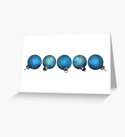 Blue Ornaments #3 Greeting Card