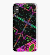 cat galaxy grid map - vaporwave 80's cat eye galaxy iPhone Case/Skin