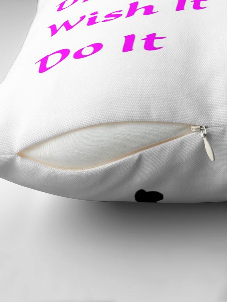 Alternate view of Dream, Wish, Do, Tinkerbell Throw Pillow
