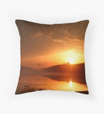 Smoke on the Water... A Fire in the Sky Throw Pillow