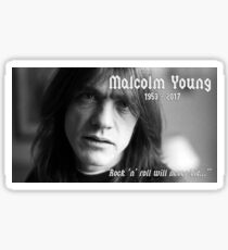 Malcolm Young 1953-2017 Sticker