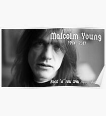 Malcolm Young 1953-2017 Poster