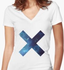 Galaxy love Women's Fitted V-Neck T-Shirt