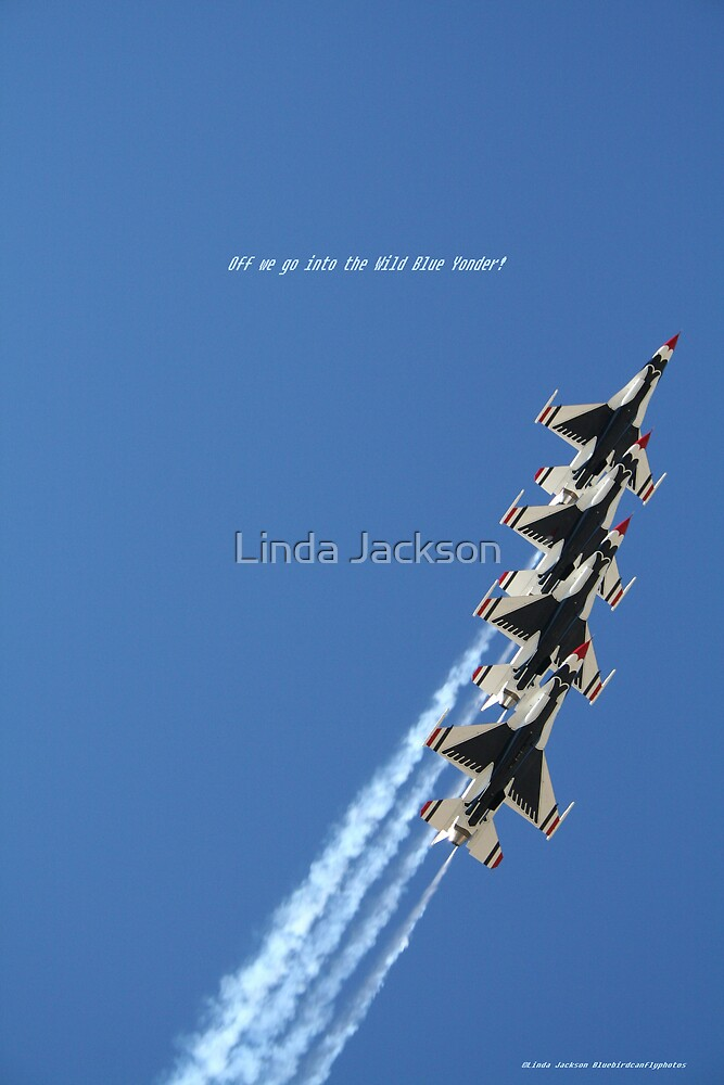 Off we go into the Wild Blue Yonder! by Linda Jackson