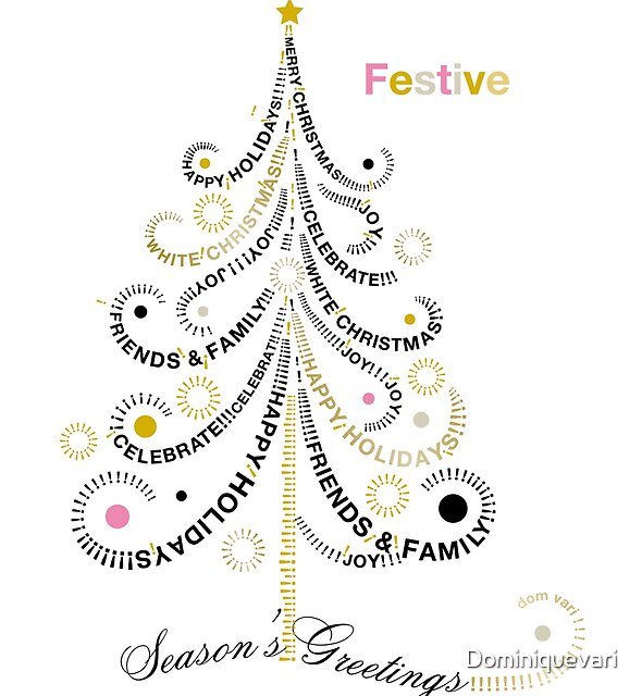 Typographic Christmas Tree by Dominiquevari