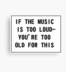 Loud Music Canvas Print
