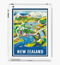 Vintage Travel Poster - New Zealand iPad Case/Skin