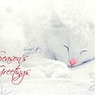 Season's Greetings Greeting Card - Delain with the glowing red nose by Scott Mitchell
