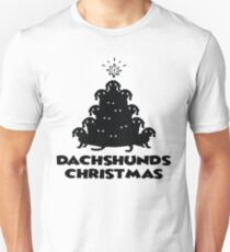 Dachshund Christmas Tree Ugly Sweater Christmas Gift T-Shirt
