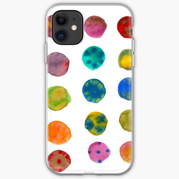 watercolor circles iPhone Soft Case