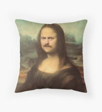 Mona Ron Swanson Throw Pillow