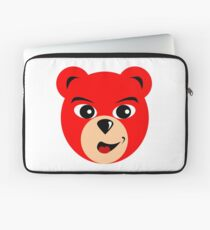 Fly Teddie - Red Laptop Sleeve
