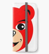 Fly Teddie - Red iPhone Wallet/Case/Skin