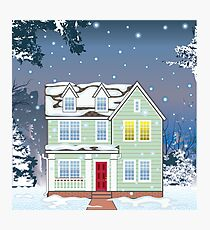 House Winter Photographic Print