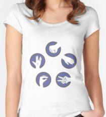 "Cisco Ramon's ""Rock Paper Scissors"" Shirt Women's Fitted Scoop T-Shirt"