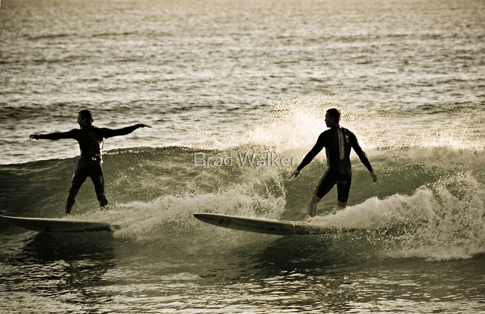 Early Morning Surfers by Brad Walker
