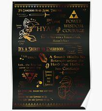 Legend of Zelda Quotes n Stuff Poster