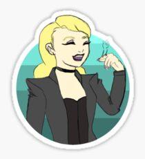 Actual Disney Princess Black Canary Sticker
