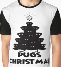 Pugs Christmas Tree Ugly Sweater Christmas Cute Gift Graphic T-Shirt