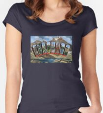 Greetings From Colorado  Women's Fitted Scoop T-Shirt