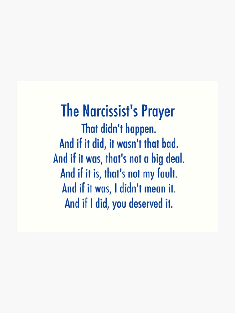 The Narcissist's Prayer | Art Print