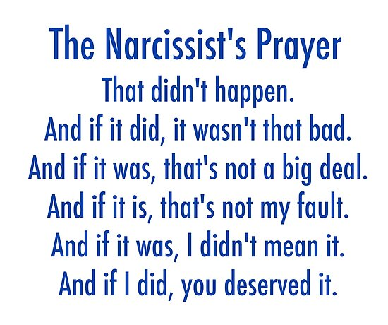 'The Narcissist's Prayer' Poster by unixorn