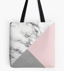 Pink, Marble and Cement Tote Bag