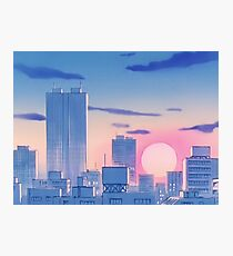 Sailor Moon City Landschaft Fotodruck