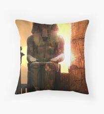 sunset at Luxor Throw Pillow