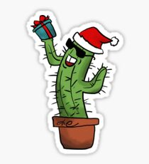 Cacti ready for Christmas Sticker