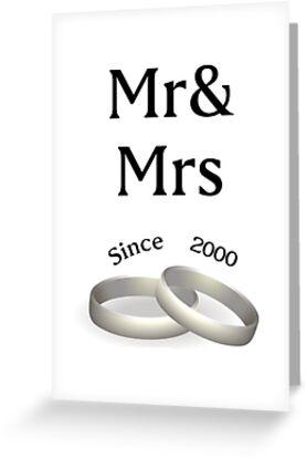 17th anniversary matching Mr. And Mrs. Since 2000 by Seas Wanda