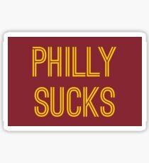 Philly Sucks - Burgundy/Gold Sticker