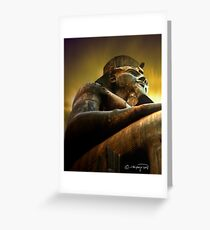 as light dawns on Ramesses II Greeting Card