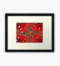 Red For Christmas Framed Print