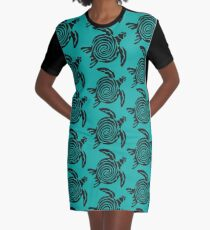 Turtle Graphic T-Shirt Dress